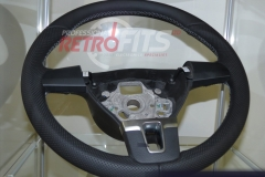 Custom Leather Steering Wheel For Volkswagen T5 (10)