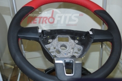 Custom Leather Steering Wheel For Volkswagen T5 (11)