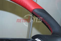 Custom Leather Steering Wheel For Volkswagen T5 (12)