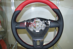 Custom Leather Steering Wheel For Volkswagen T5 (14)
