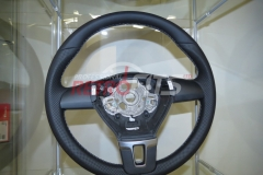 Custom Leather Steering Wheel For Volkswagen T5 (15)