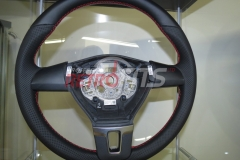 Custom Leather Steering Wheel For Volkswagen T5 (16)