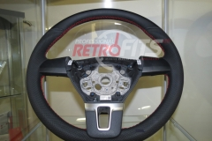 Custom Leather Steering Wheel For Volkswagen T5 (5)