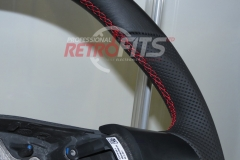 Custom Leather Steering Wheel For Volkswagen T5 (6)