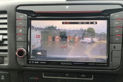 vw t5.1-kenwood dnx518-dash cam-display