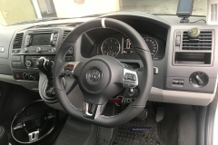 vw transporter-t5.1- mk6 flat bottom-steering wheel