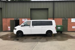 vw t5 t6 windows fitted hh mm