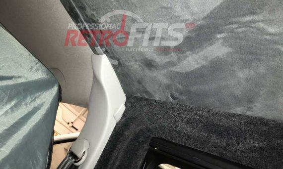 VW Transporter suede roof lining