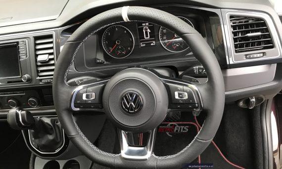 vw-t6-flat bottom-multifunction-steering wheel-dsg