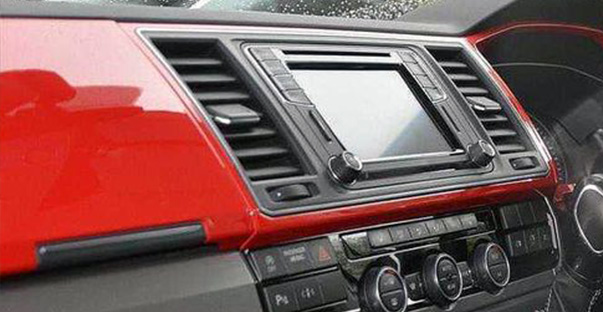 vw caravelle dash board trims options cherry red cut