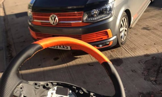 Recovered Orange Steering wheel for VW T6